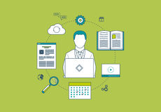 Concept of consulting services, project management Royalty Free Stock Image