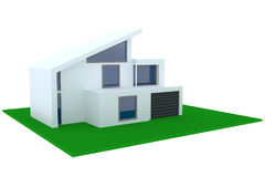 Concept of contemporary house with garage Stock Images