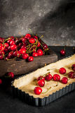 Concept of cooking cherry pie Royalty Free Stock Photography