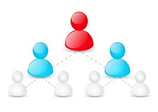 Concept of corporate hierarchy. Or social network Royalty Free Stock Image
