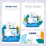 Concept corporate style flyer graphic design, freelance, vector graphics, graphic studio, web design, online work, internet design royalty free stock photos