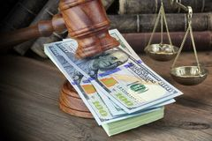 Concept For Corruption, Bankruptcy Court, Bail, Crime, Bribing, Royalty Free Stock Images