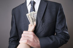 Concept - corruption Royalty Free Stock Image