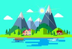 The concept of country life vector illustration