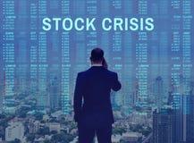 Concept courant d'entreprise de crise de forex photo stock
