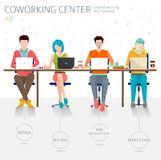 Concept of the coworking center Stock Photos