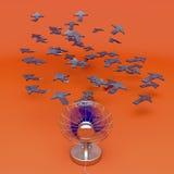 Concept créateur avec le ventilateur illustration libre de droits