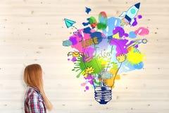 Concept créateur d'idée illustration stock