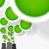 Concept créateur de bio de centrale d'Eco de pipe vert de fumée illustration stock
