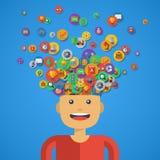 Concept créatif d'éducation Illustration de vecteur Image libre de droits
