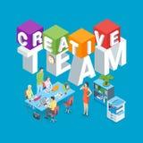 Concept créatif d'équipe illustration de vecteur