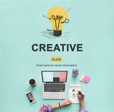 Concept créatif d'ampoule d'inspiration d'imagination d'idées photos stock