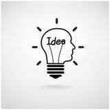 Concept créatif d'idée d'ampoule Photos stock