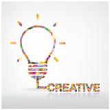 Concept créatif d'idée d'ampoule Photos libres de droits