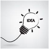 Concept créatif d'idée d'ampoule Image stock
