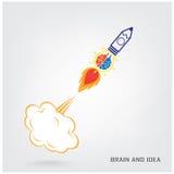Concept créatif d'idée de cerveau Image libre de droits