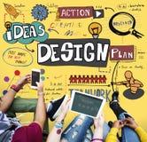 Concept créatif d'idées d'inspiration de conception Image libre de droits