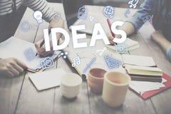 Concept créatif d'innovation d'imagination de conception d'idées photos libres de droits
