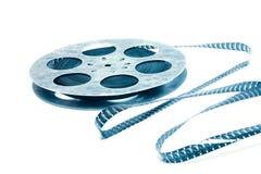Concept créatif d'une rétro pellicule cinématographique avec une bobine de film de cru Photographie stock libre de droits