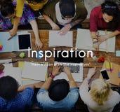 Concept créatif de capacité d'aspirations de vision d'inspiration image stock