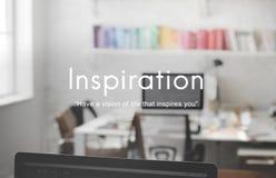 Concept créatif de capacité d'aspirations de vision d'inspiration photos libres de droits