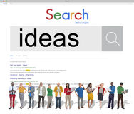 Concept créatif de connexion de technologie d'idées de recherche image stock