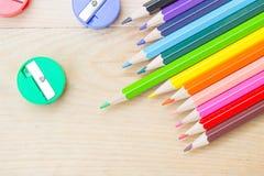 Concept créatif de couleur de crayon d'art coloré de peinture Photos libres de droits