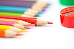 Concept créatif de couleur de crayon d'art coloré de peinture Photo stock