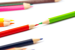 Concept créatif de couleur de crayon d'art coloré de peinture Photographie stock