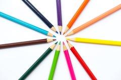 Concept créatif de couleur de crayon d'art coloré de peinture Photos stock
