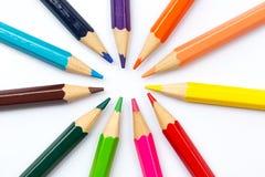 Concept créatif de couleur de crayon d'art coloré de peinture Images stock