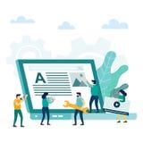 Concept créatif de développement de conception d'application de site Web illustration de vecteur