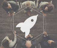 Concept créatif de graphique de développement d'innovation de lancement photographie stock
