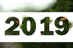 Concept créatif de nature de nouvelle année Composition minimale en vacances Configuration d'appartement de vue supérieure illustration libre de droits