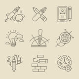 Concept créatif de processus de conception Photo stock