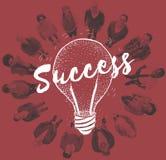Concept créatif de succès de planification d'échange d'idées d'idée Image libre de droits