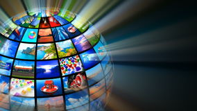 Concept créatif de technologies de media