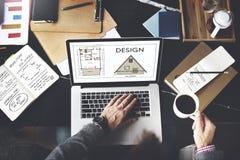 Concept créatif graphique d'ébauche de but de la planification de conception Image stock