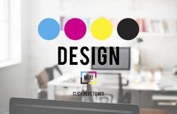Concept créatif graphique d'ébauche de but de la planification de conception Images stock