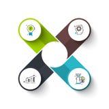 Concept créatif pour infographic Images libres de droits