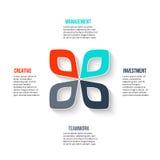 Concept créatif pour infographic Photos stock