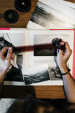 Concept créatif de studio de conception de profession d'idées de photographie Photos libres de droits