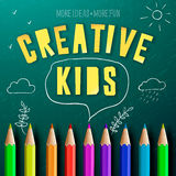 Concept of creative education for kids Stock Photos
