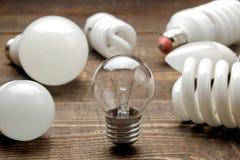 Concept creative idea. concept of creative idea. Bulbs of crumpled paper and light bulb. metaphor, inspiration royalty free stock photos