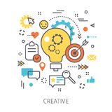 Concept of creative. Royalty Free Stock Images