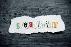 Concept creative message  - creativity Royalty Free Stock Photo