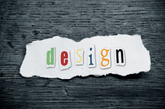 Concept creative message - design Royalty Free Stock Photography
