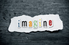 Concept creative message - imagine stock photography