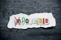 Concept creative message  - impossible Royalty Free Stock Image