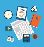 Concept of creative office workspace, workplace Royalty Free Stock Photos